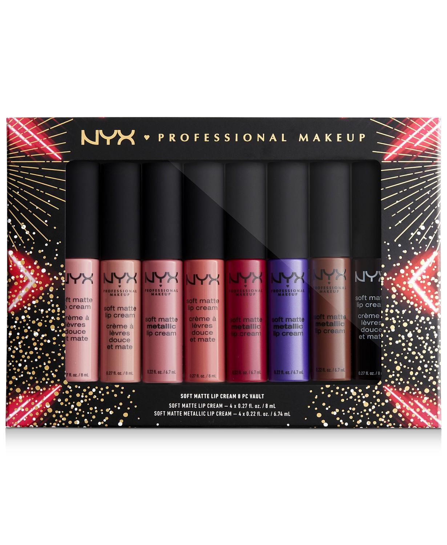 8-Pc NYX Professional Makeup Soft Matte Lip Cream Lipstick Set $19 & More at Macy's w/ Free Store Pickup