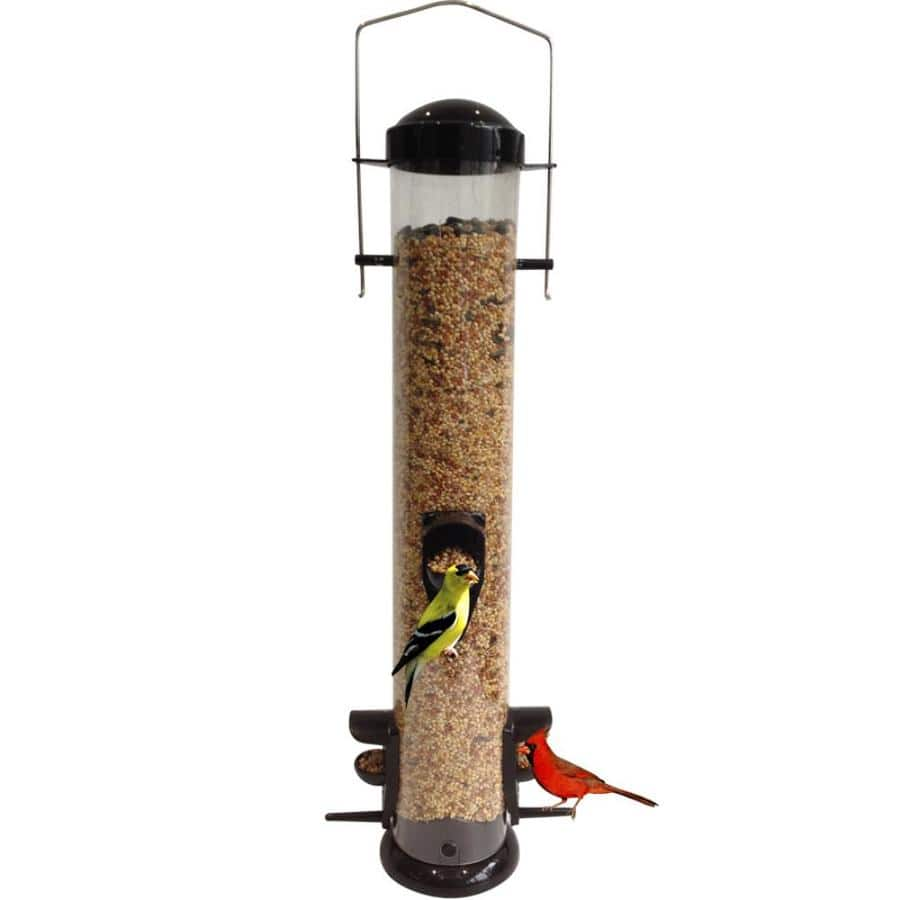 Garden Treasures Black Tube Bird Feeder $1.25 & More at Lowe's w/ Free Store Pickup (YMMV)