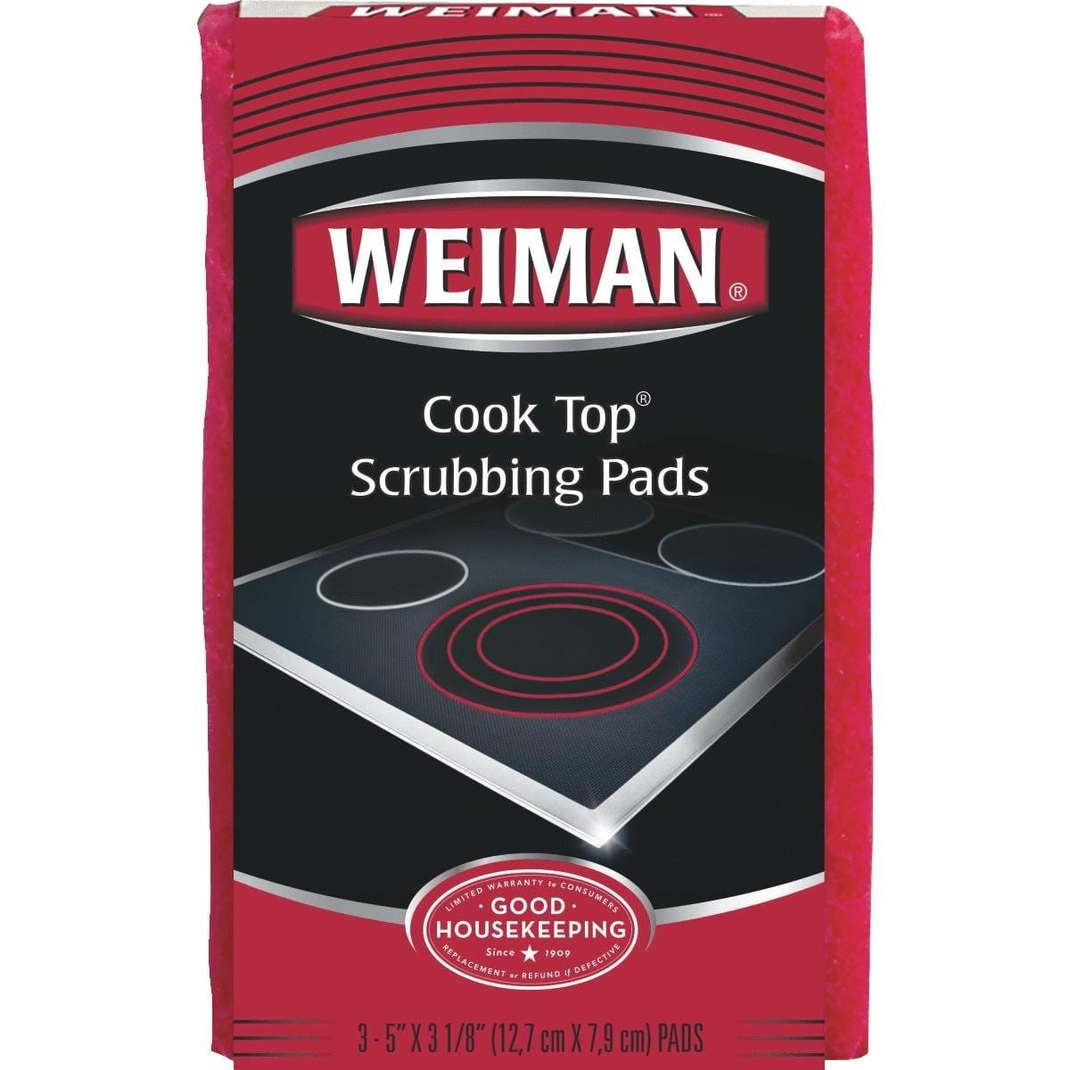 3-Count Weiman Cook Top Non-Scratch Scrubbing Pads $1.49 + Free Shipping w/ Prime