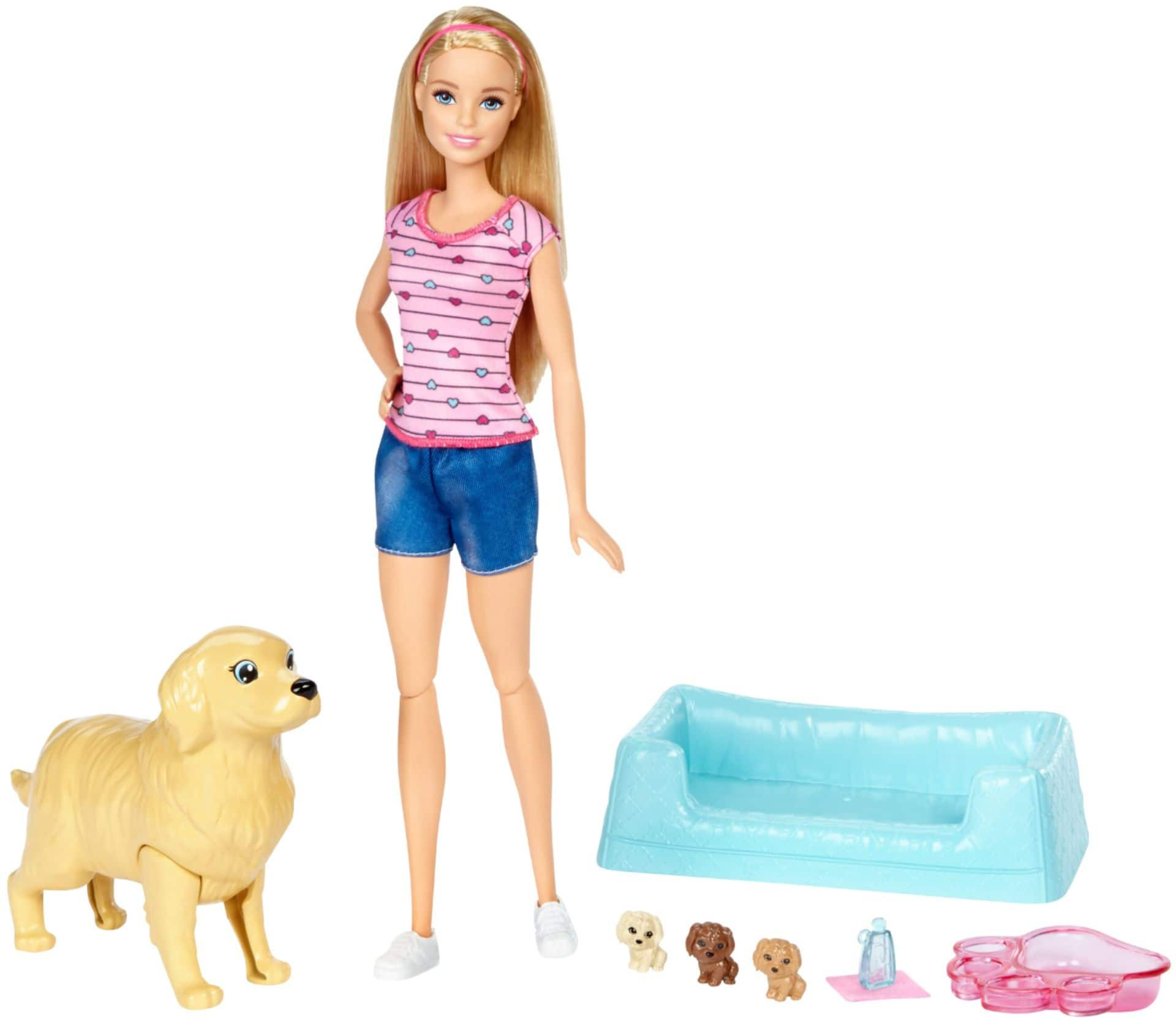 Barbie Newborn Pups Doll & Pets (Various Styles) $8.50 at Best Buy