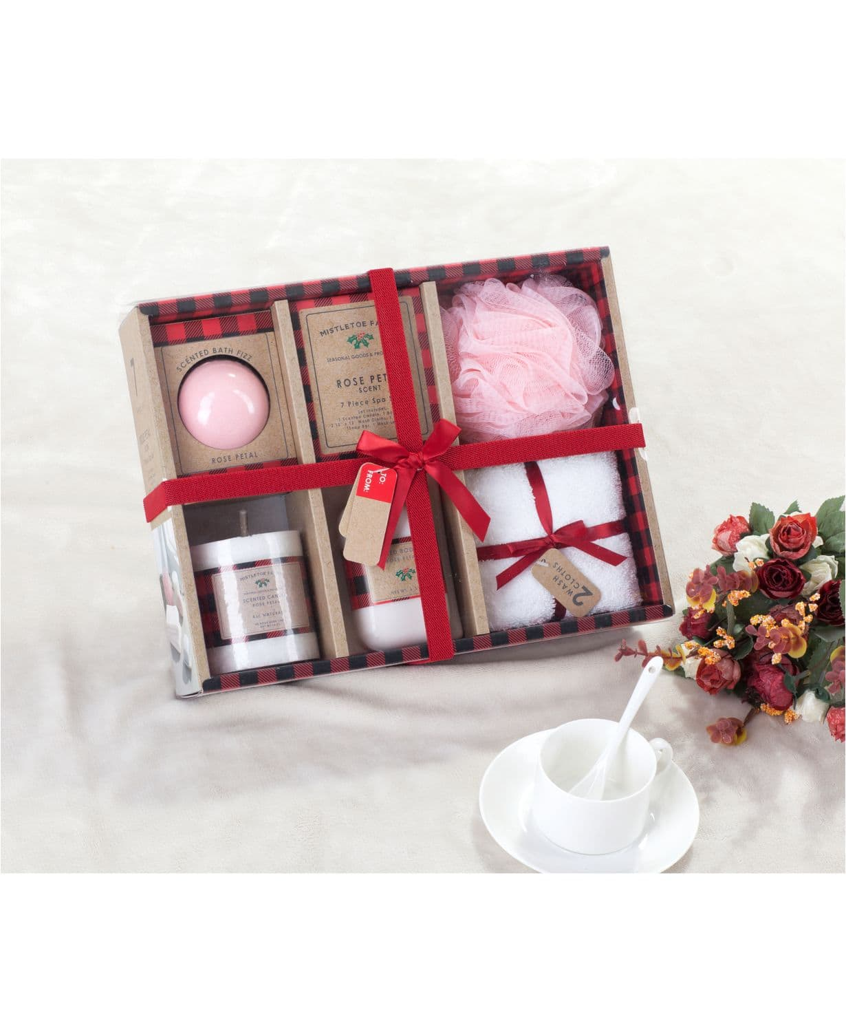 7-Piece Indecor Home Spa Bath Gift Set (Pink) $15 at Macy's w/ Free Store Pickup