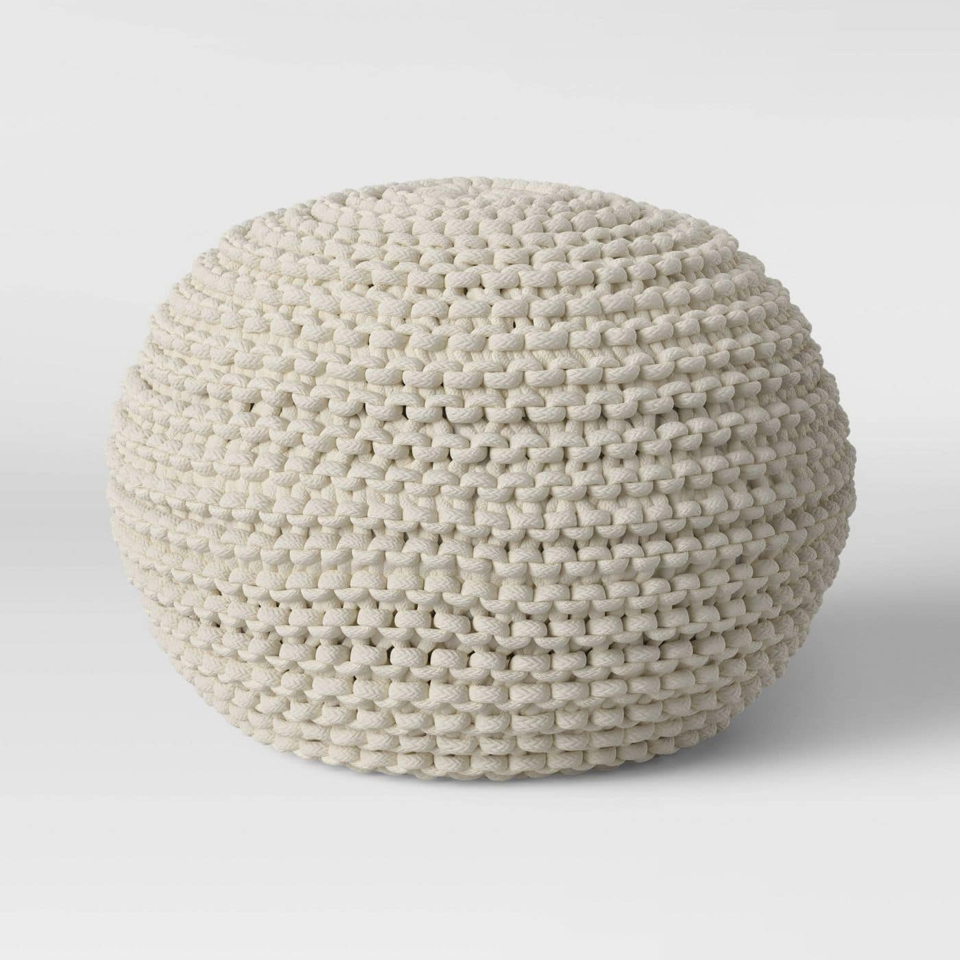 Threshold Cloverly Chunky Knit Pouf Ottoman (Blue or Cream) $39 + Free Shipping