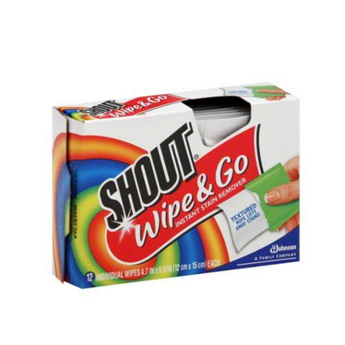12-Count Shout Wipe & Go Instant Stain Remover Wipes $1 + Free Shipping