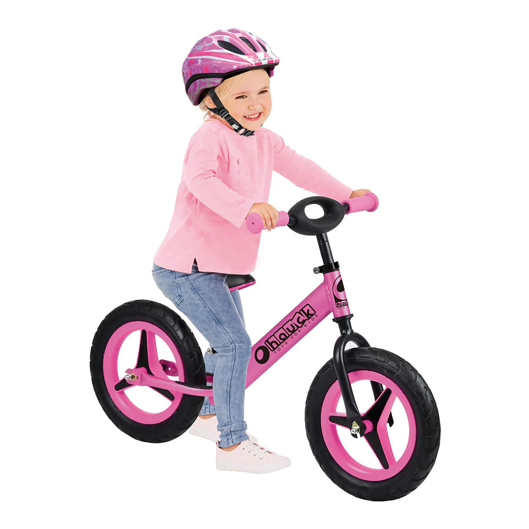 Hauck Aluminum Rider Balance Bike (Pink) $40 + Free Shipping