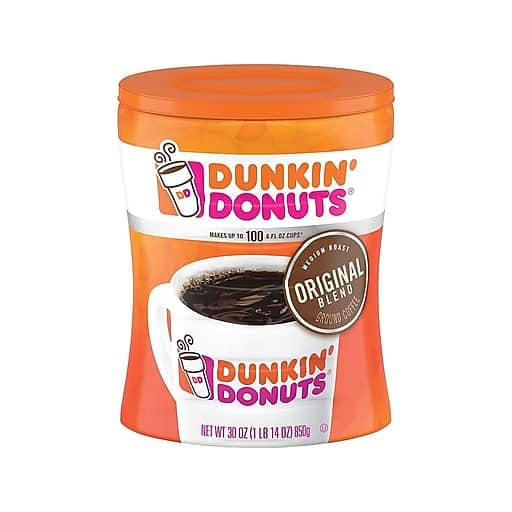30-Oz Canister Dunkin' Donuts Original Blend Ground Coffee (Medium Roast) $11.79 + Free Shipping