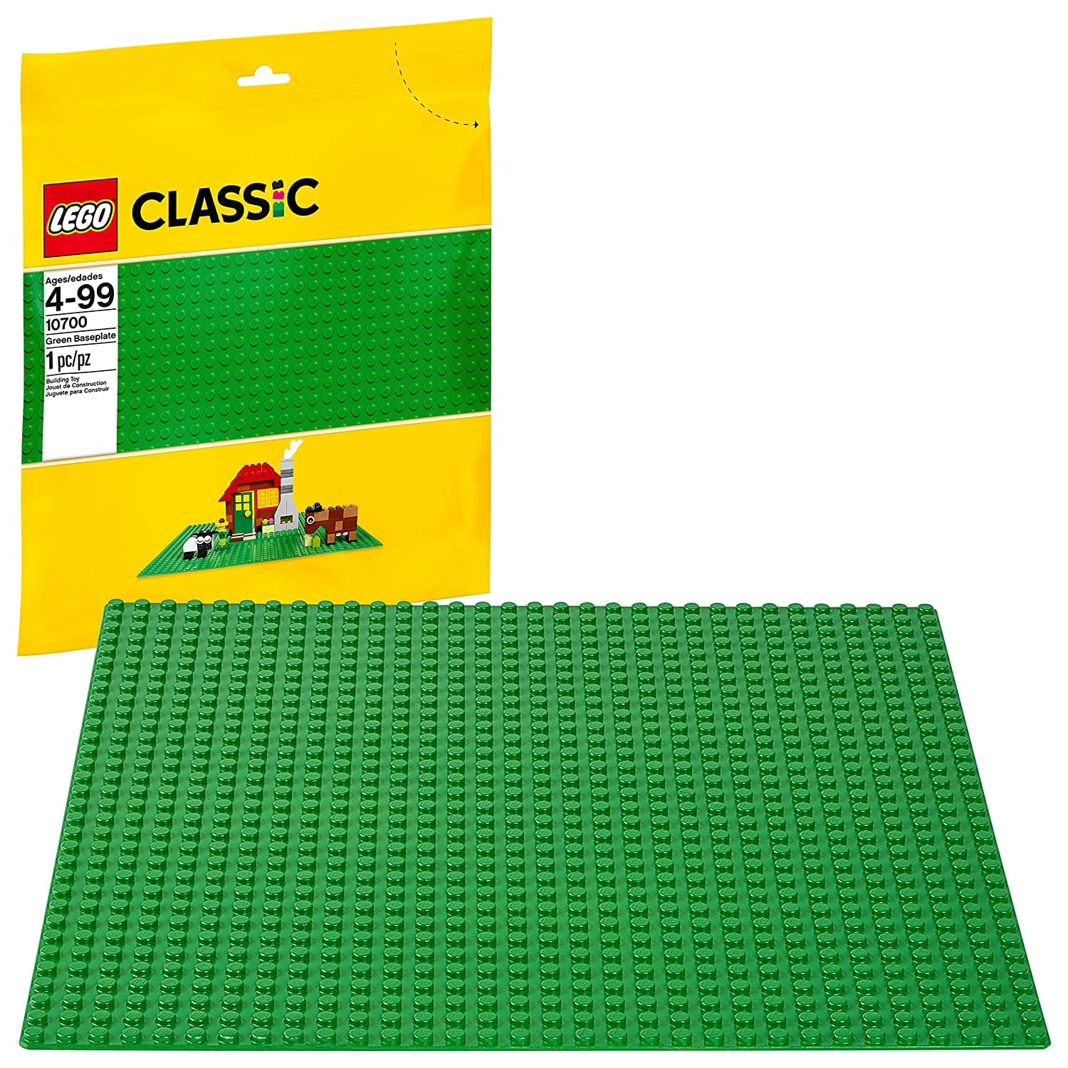 """LEGO Classic 10""""x10"""" Building Baseplate (Green or Blue) $5 each + Free Shipping w/ Prime"""