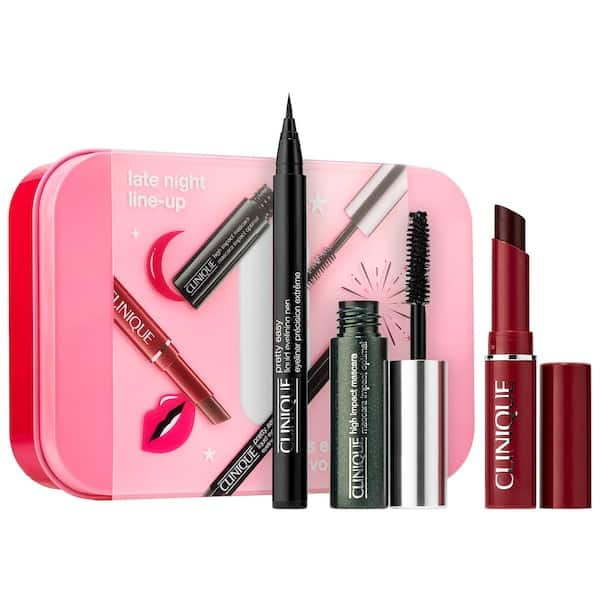 3-Piece Clinique Late Night Line Up Mini Eye and Lip Set + 2 Free Samples $10 w/ Free Shipping