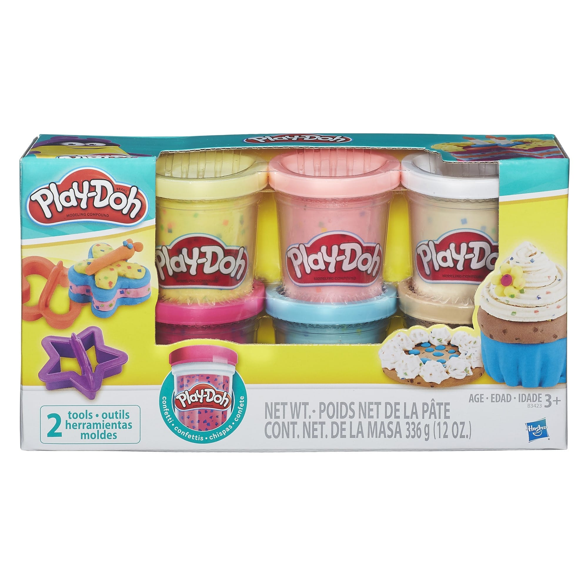 Play-Doh Confetti Compound Collection (6 Cans + 2 Cutters) $4.50 + Free Shipping w/ Prime or $25+