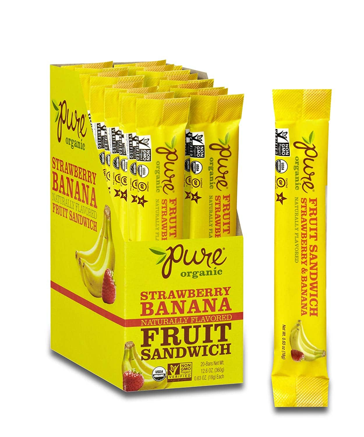 20-Pack Pure Organic Layered Fruit Bars (Strawberry Banana) $10 + Free Shipping w/ Prime or $25+