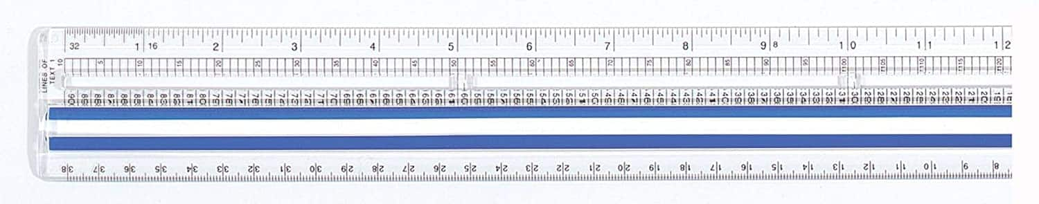"12"" Westcott Data Processing Magnifying Ruler $2 + Free Shipping w/ Prime or $25+"