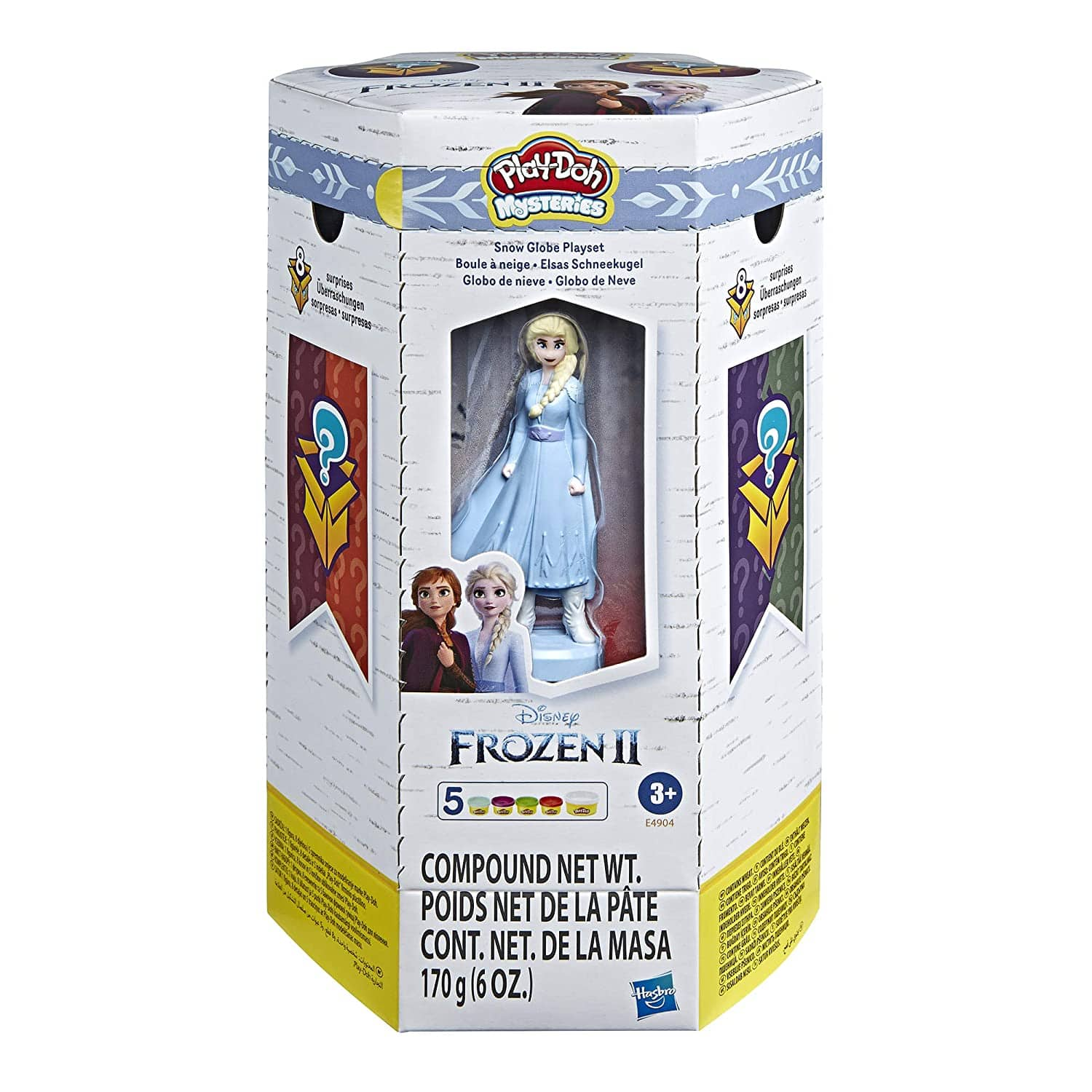 Play-Doh Mysteries Disney Frozen 2 Snow Globe Playset (5 Cans) $8.88 + Free Shipping w/ Prime or $25+