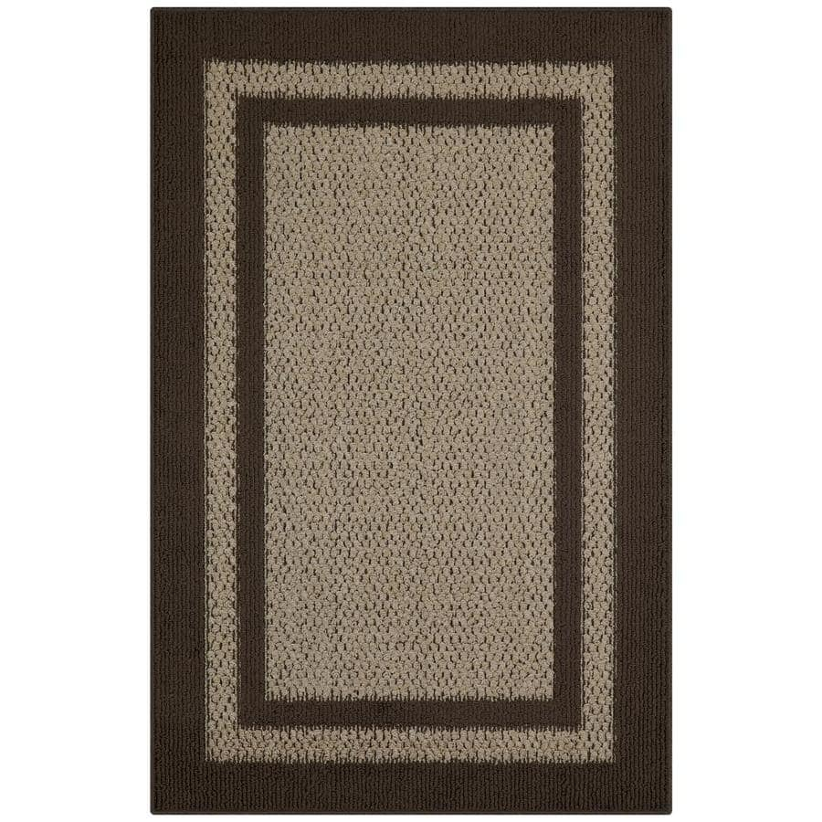 2.5' W x 3.83' L Maples Rugs Indoor Throw Rug (Brown/Tan) $7 at Lowe's w/ Free Store Pickup YMMV