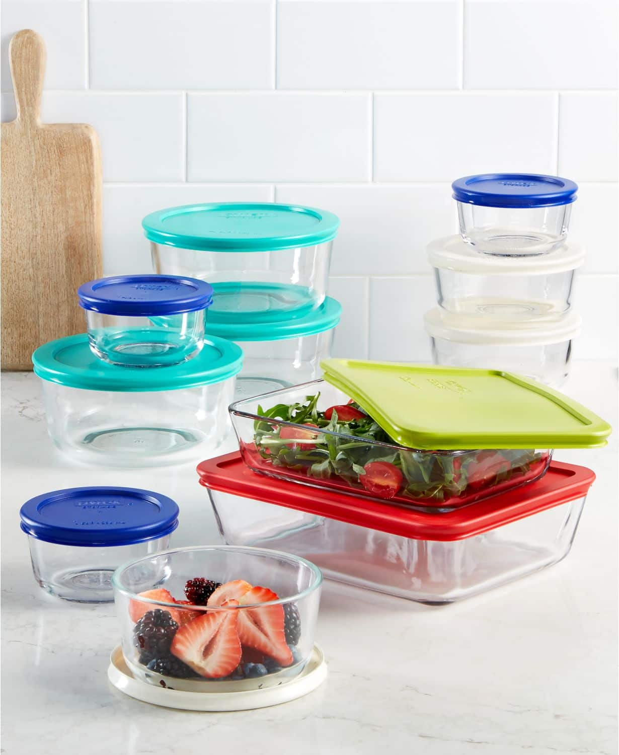 22-Piece Pyrex Food Storage Container Set $30 + Free Shipping