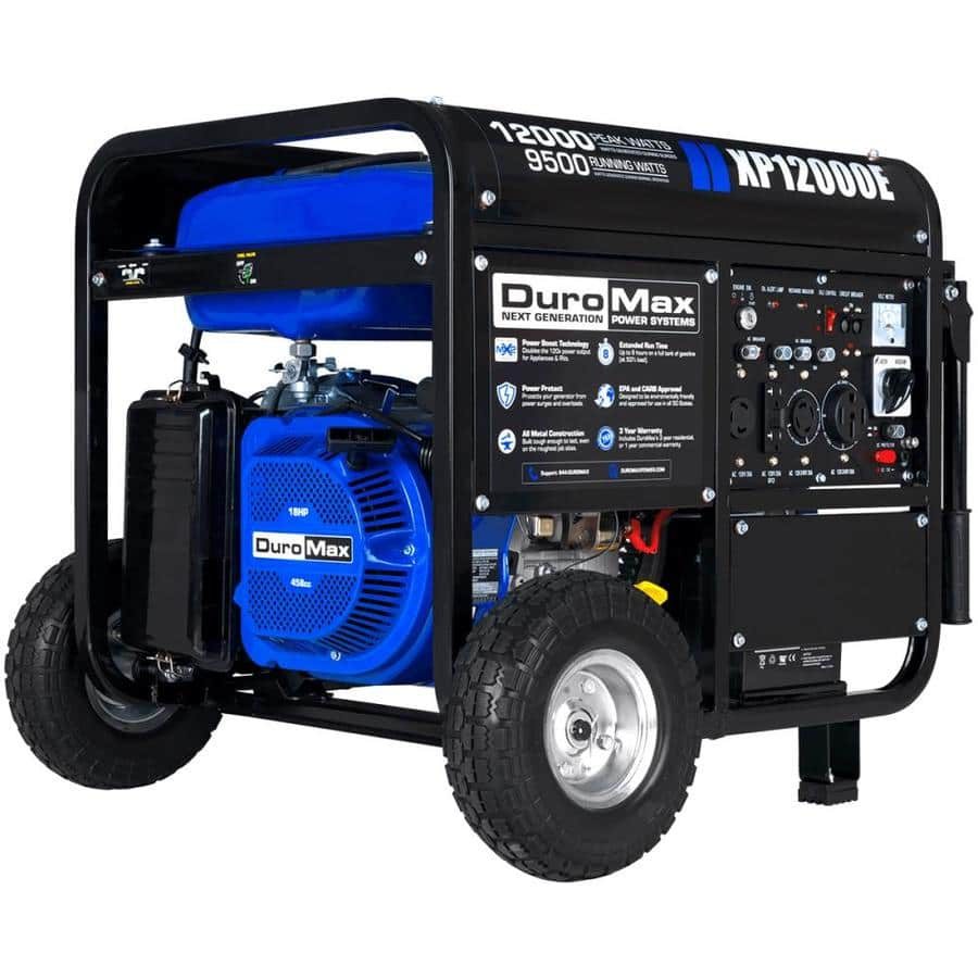 DuroMax 12000-Watt Gasoline Portable Generator with OEM Engine $839 + Free Shipping
