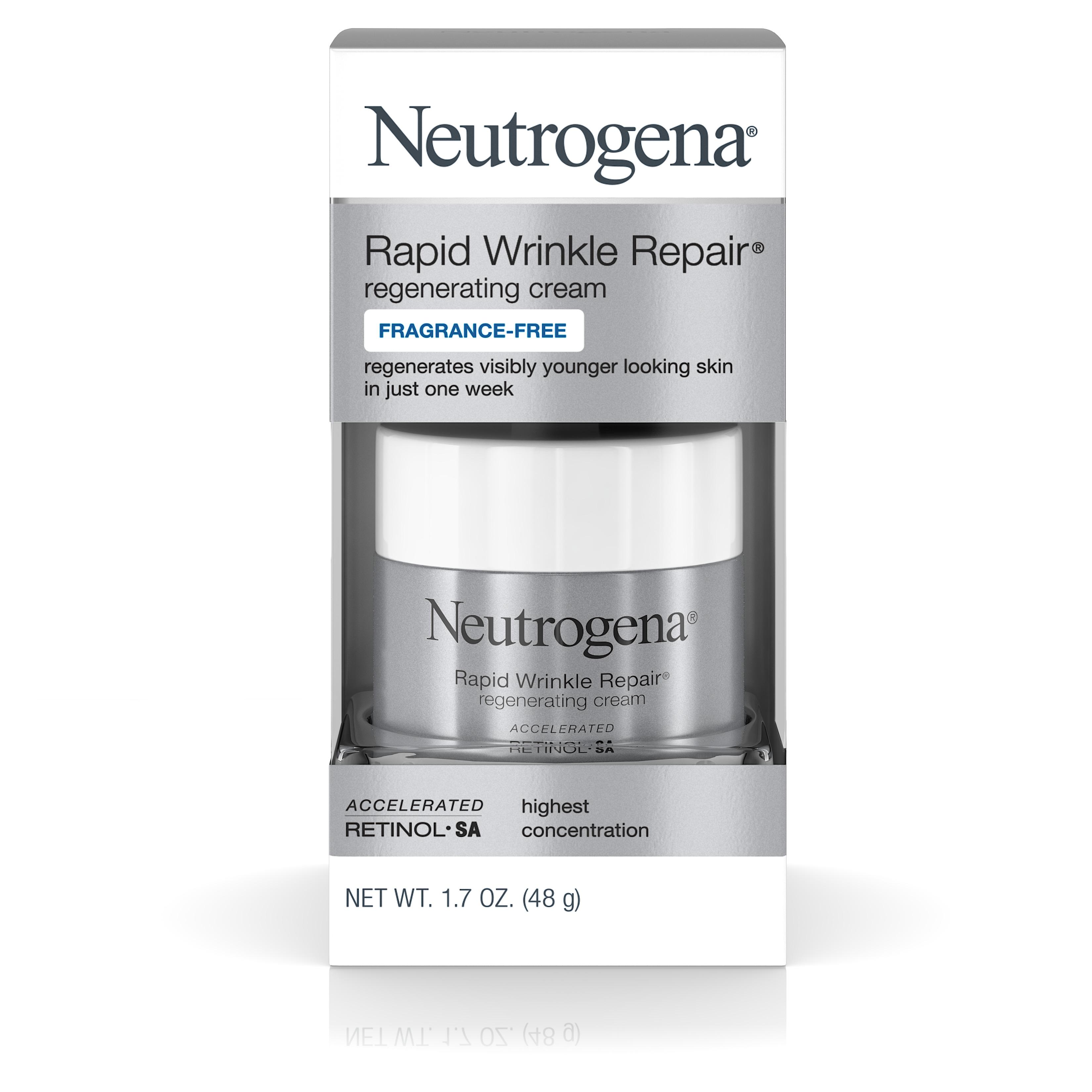 1.7 -Oz Neutrogena Rapid Wrinkle Repair Regenerating Cream w/ Hyaluronic Acid & Retinol $15.15 w/ S&S + Free S/H w/ Prime