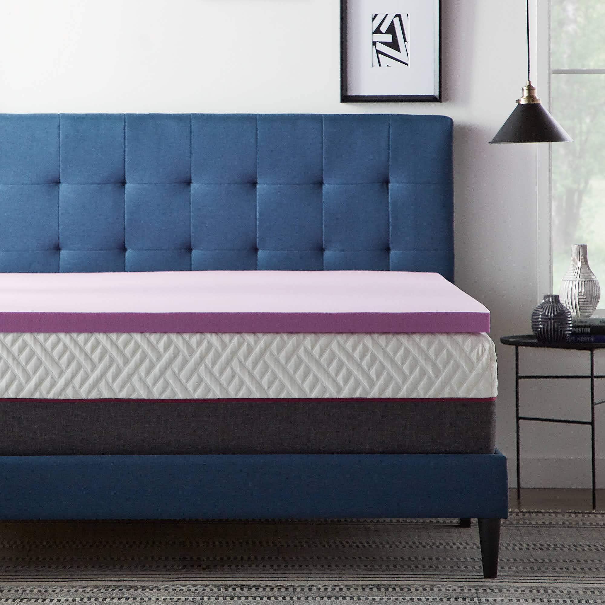 """Lucid Revive Lavender and Aloe Twin Memory Foam Toppers:  2"""" for $38, 3"""" for $54 & More + Free Shipping"""