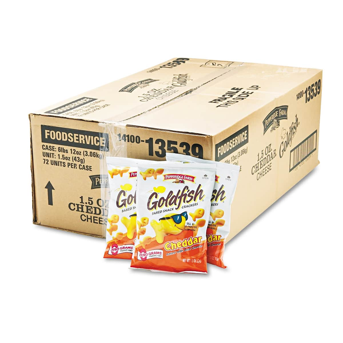 72-Pack 1.5-Oz Pepperidge Farm Goldfish Crackers (Cheddar) $23.15 + Free Shipping