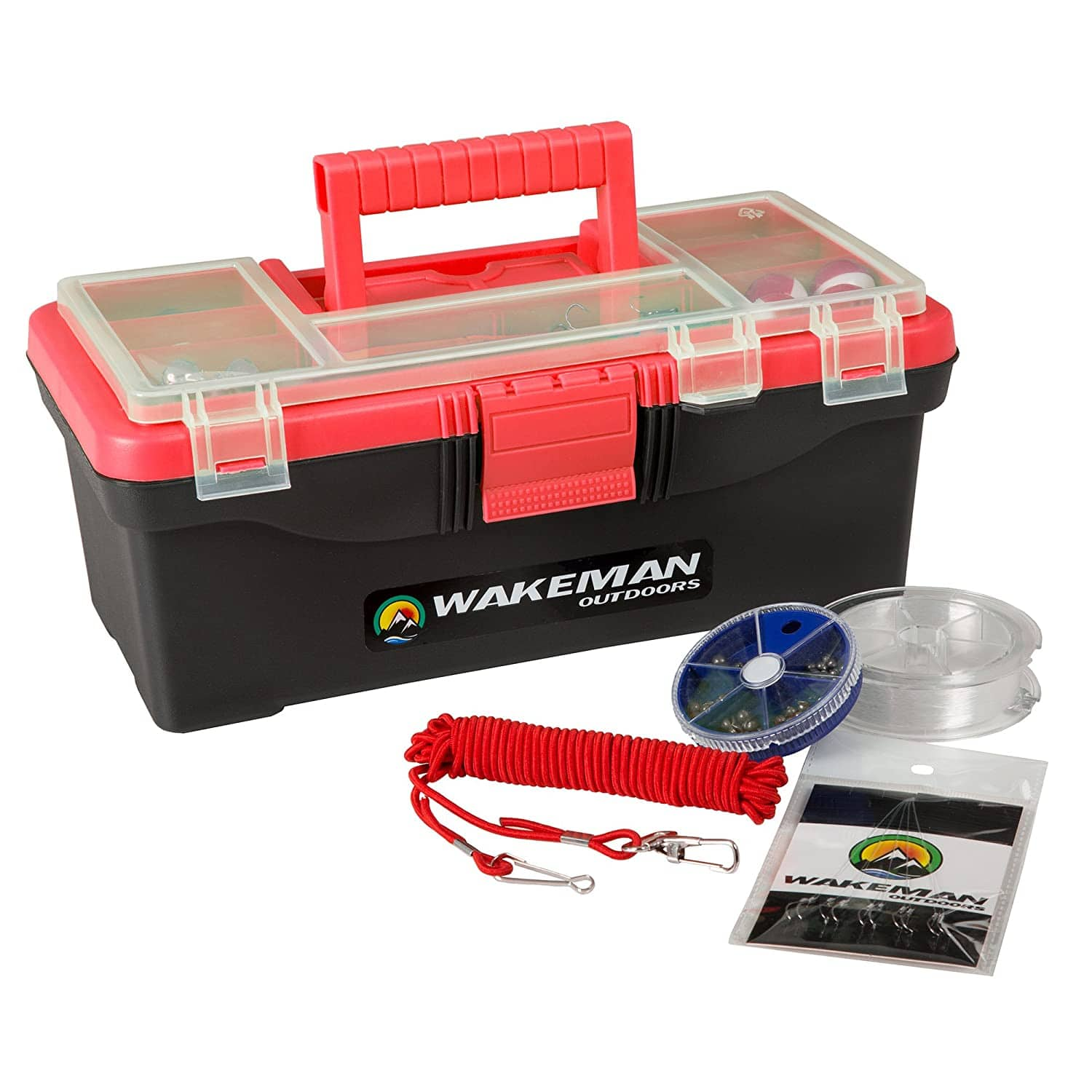 55-Piece Wakeman Outdoors Fishing Tackle Box / Tackle Kit (Red) $15 + Free Shipping w/ Prime or $25+