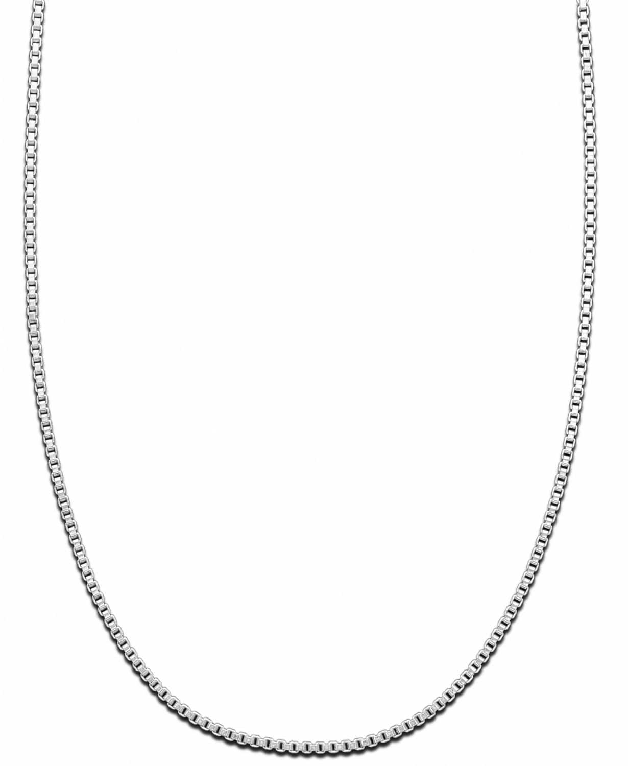 """16"""" Giani Bernini Sterling Silver Box Chain Necklace $13 at Macy's w/ Free S&H on $25+"""