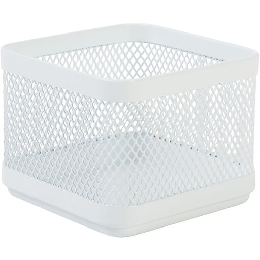 Staples Wire Mesh Accessory Holder / Small Storage Box (White) $2.40 + Free Shipping