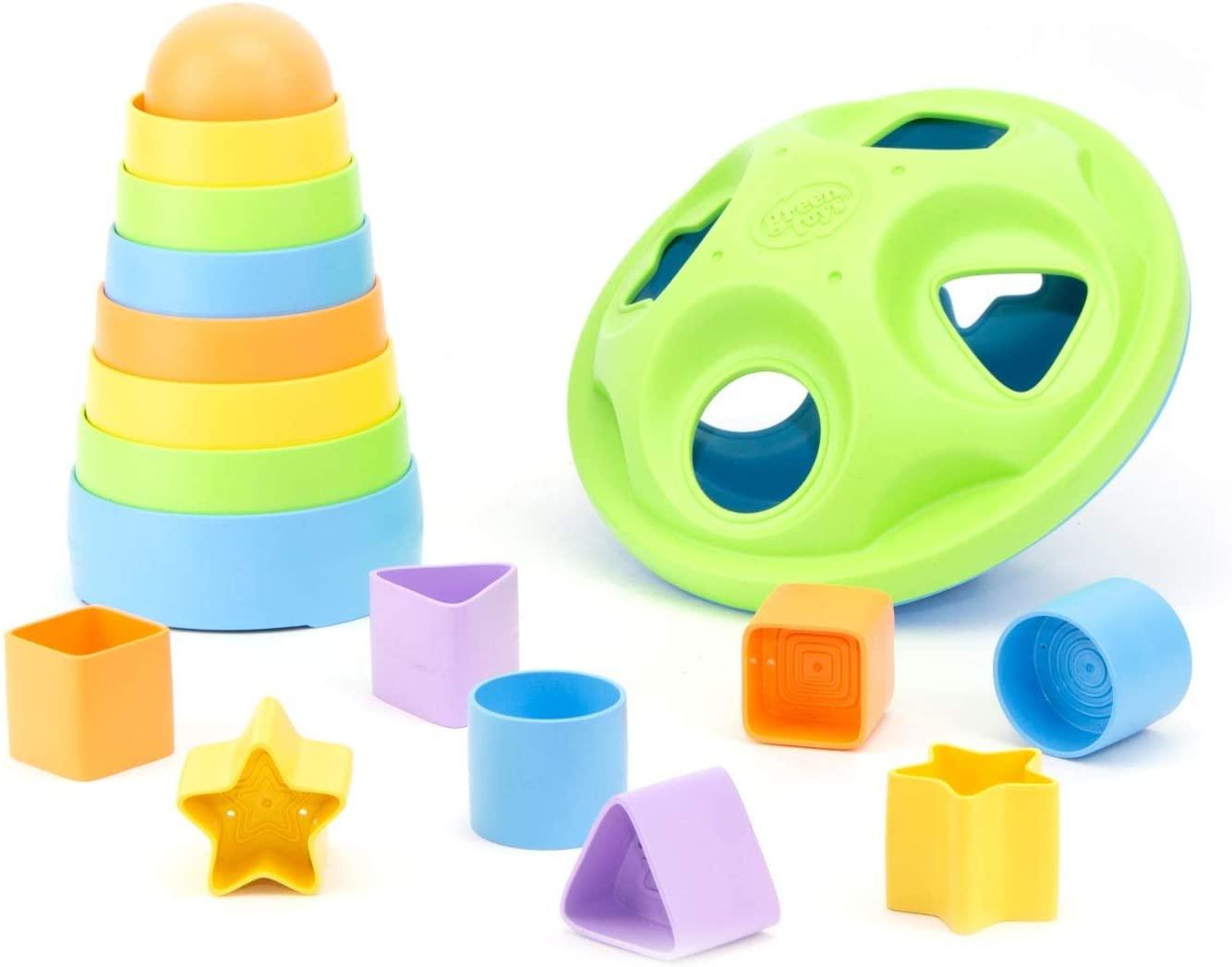 Green Toys Stacker & Shape Sorter Set $14.05 + Free Shipping w/ Prime or $25+
