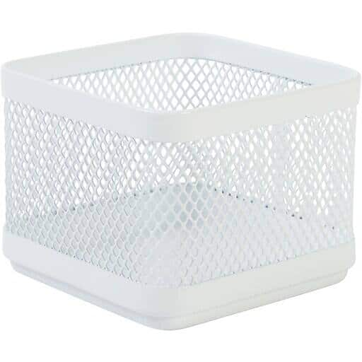 Staples Wire Mesh Accessory Holder / Small Storage Box (White) $2.15 + Free Shipping