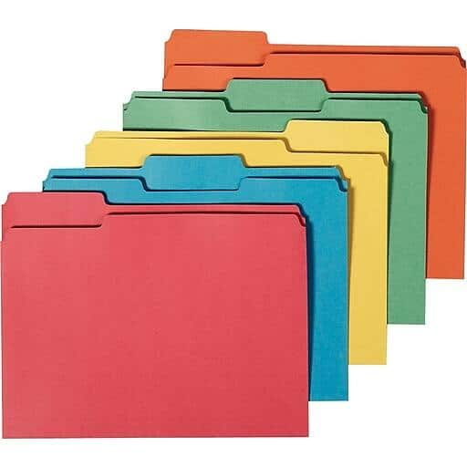 50-Count Staples 100% Recycled 3-Tab File Folders (Letter Size, Assorted Colors) $3.90 & More + Free Shipping YMMV