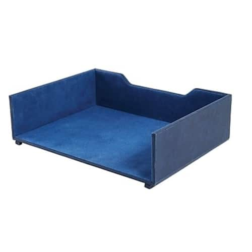 Staples Stackable Faux Leather Letter Tray (Blue) $4.20 + Free Shipping YMMV