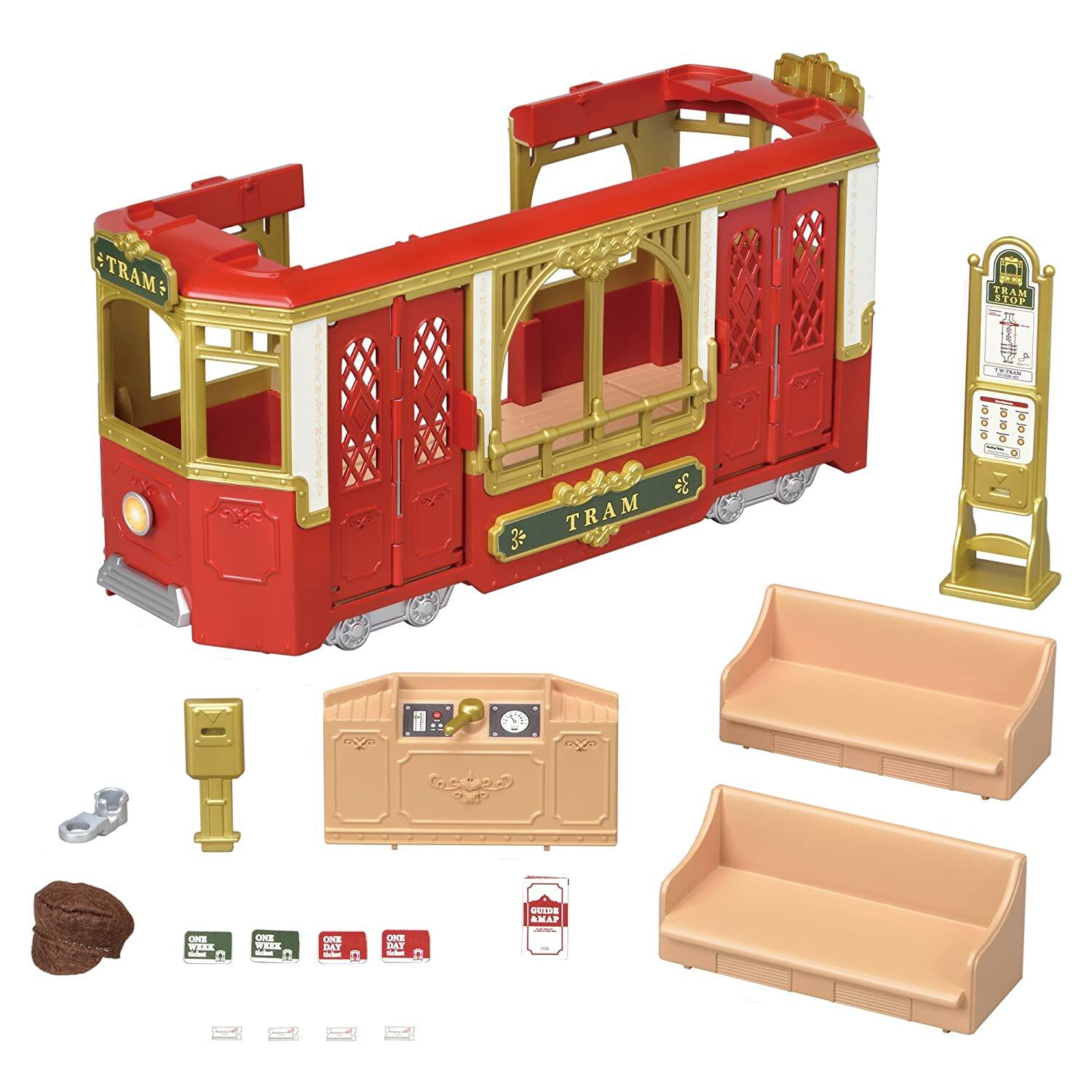 Calico Critters Town Ride Along Tram $18 & More + Free Shipping w/ Prime or $25+