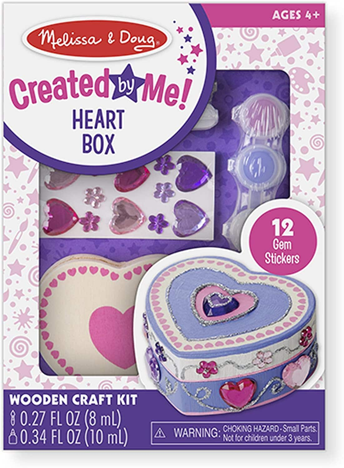 Melissa & Doug Decorate-Your-Own Box Craft Kit (Heart) $5 + Free Shipping w/ Prime or $25+