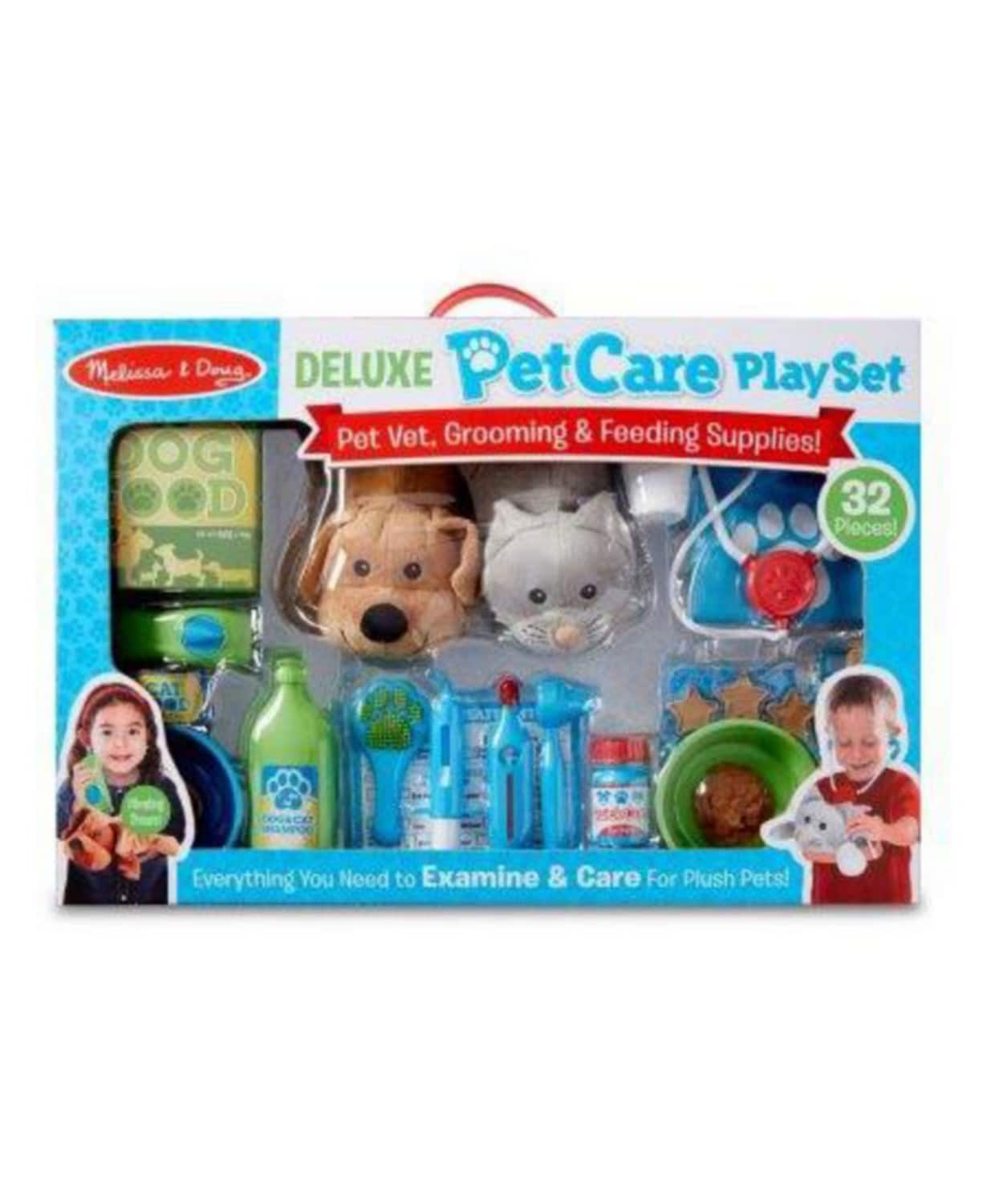 32-Piece Melissa and Doug Deluxe Pet Care Play Set $30 + Free Shipping