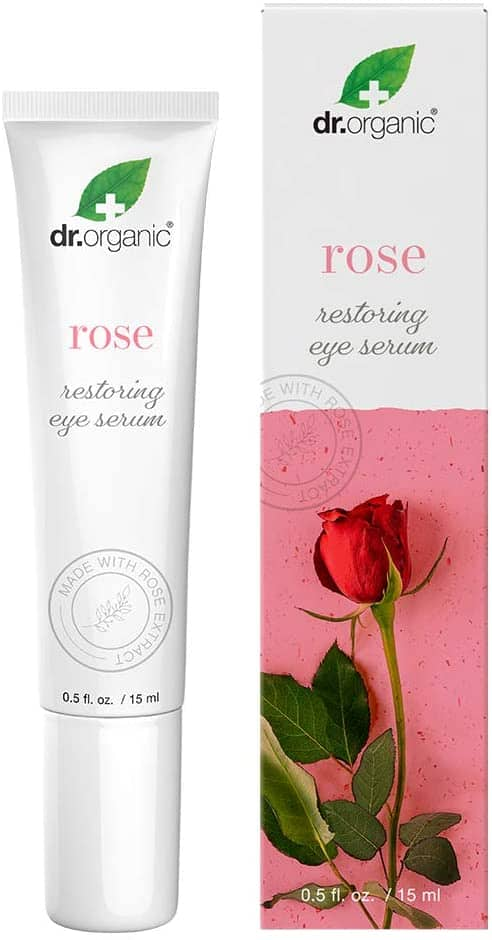 0.5-Oz Dr.Organic Restoring Eye Serum with Organic Rose Extract $3 + Free Shipping w/ Prime or $25+