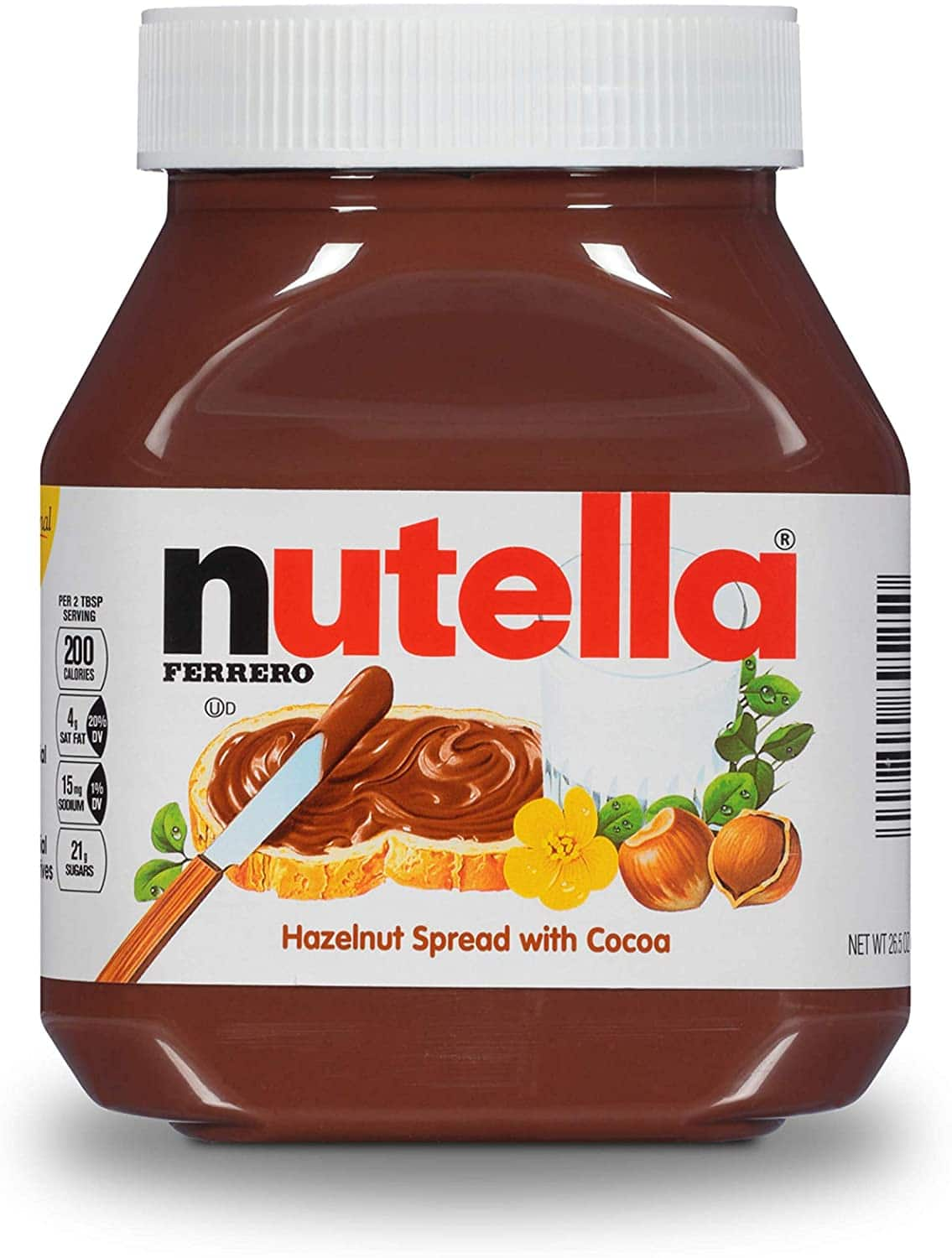 26.5-Oz Nutella Chocolate Hazelnut Spread $4.75 w/ S&S + Free S&H w/ Prime or $25+