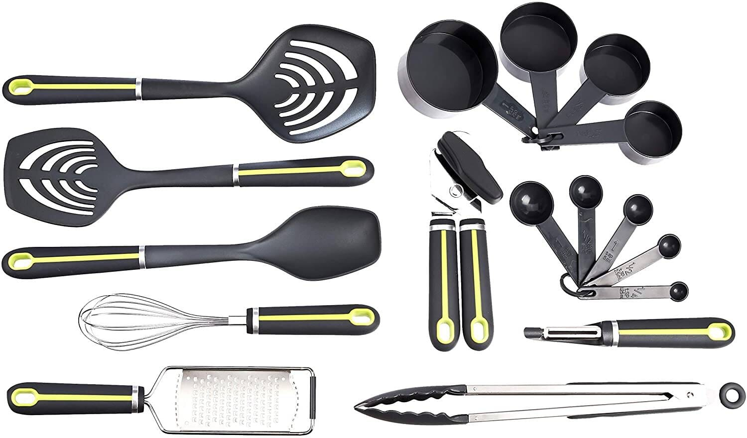 17-Piece Amazon Basics Kitchen Tools and Gadget Set (Grey/Green) $12.90 + Free Shipping w/ Prime or $25+