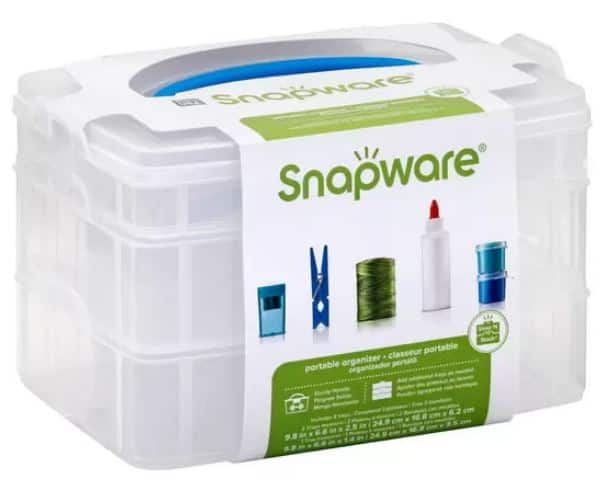 """Snapware Snap 'N Stack Portable Organizer (9.8"""" x 6.6"""" x 2.5"""") $5.45 + Free Shipping w/ Prime or $25+"""