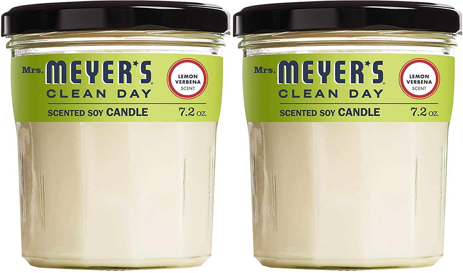 2-Pack 7.2-Oz Mrs. Meyer's Clean Day Scented Soy Aromatherapy Candle (Lemon Verbena) $7 w/ S&S + Free Shipping w/ Prime or $25+