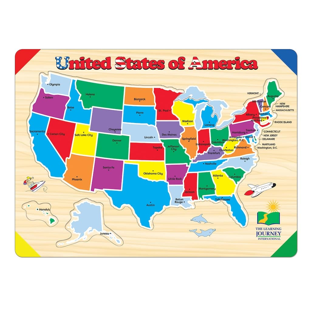 The Learning Journey Lift & Learn USA Map Puzzle $6 at Michaels w/ Free Store Pickup