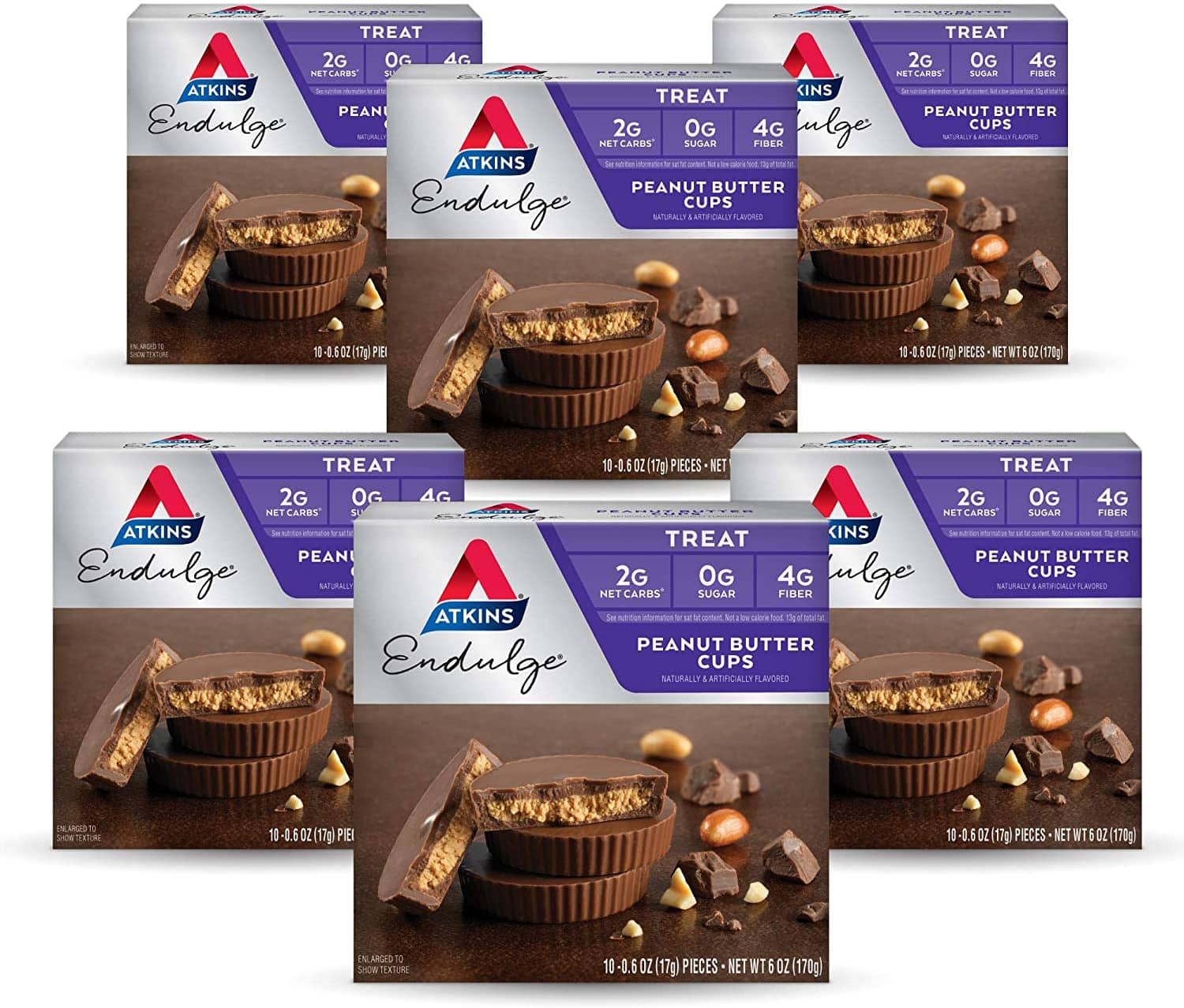 60-Count Atkins Endulge Treat Peanut Butter Cups $22.20 ($0.37/ea) + Free Shipping w/ Prime or $25+