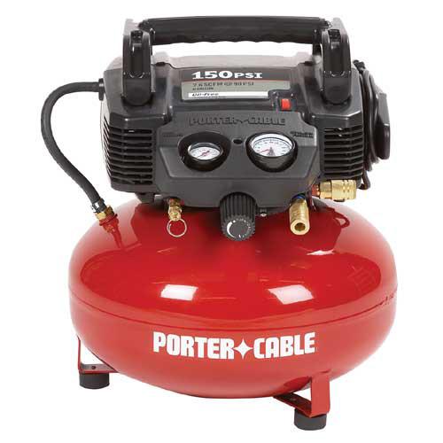 Porter-Cable C2002 150 PSI 6 Gallon Oil-Free Pancake Air Compressor $69.99