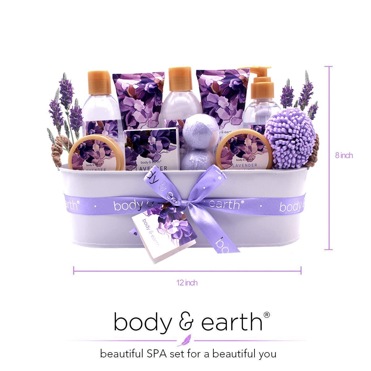 Body & Earth Bath Gift Set 12 Pcs Lavender Scented $16.19