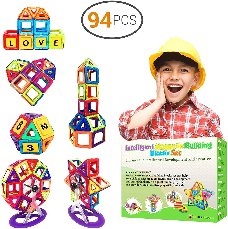 Desire Deluxe Magnetic Blocks Building Tiles STEM Toys Set (94pc ) $19.8
