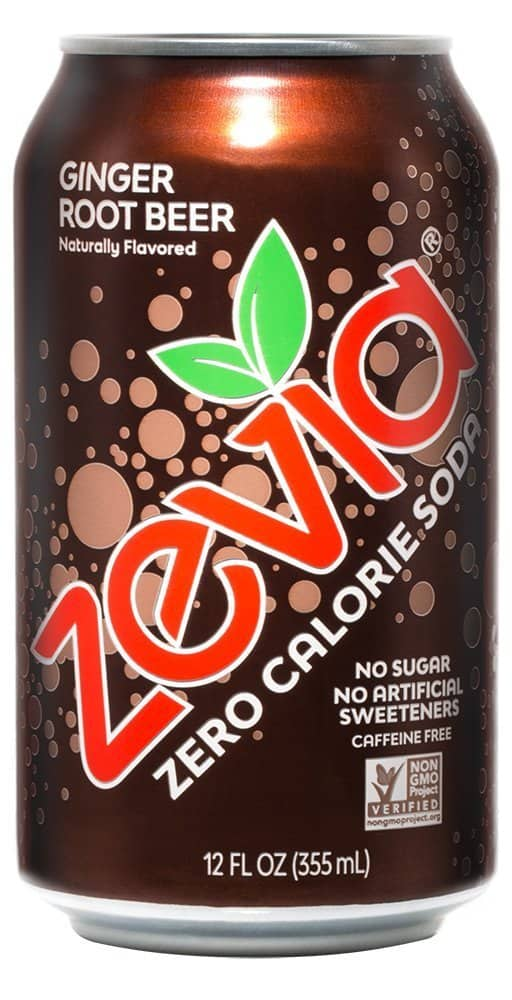 Zevia Zero Calorie Soda, Ginger Root Beer flavor, (24) 12 Ounce Cans for as low as $9.81 w/coupon and S&S