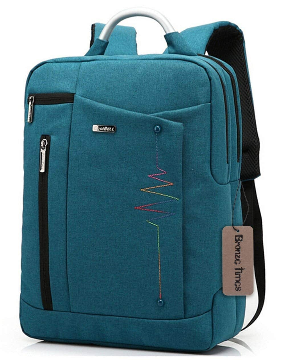 Bronze Times (TM) Premium Shockproof Canvas Laptop Backpack Travel Bag (Blue) $19.35