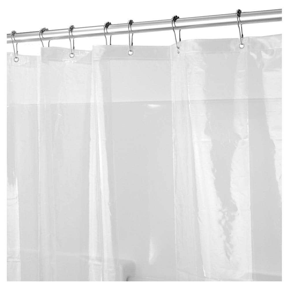 Caitlin White Heavy Duty 10 Gauge PEVA Shower Curtain Liner Waterproof Odorless Mildew Resistance 999