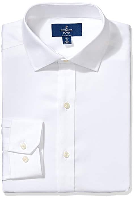 'Buttoned Down' Men's Non-Iron Fitted Dress Shirts Now For Low Price