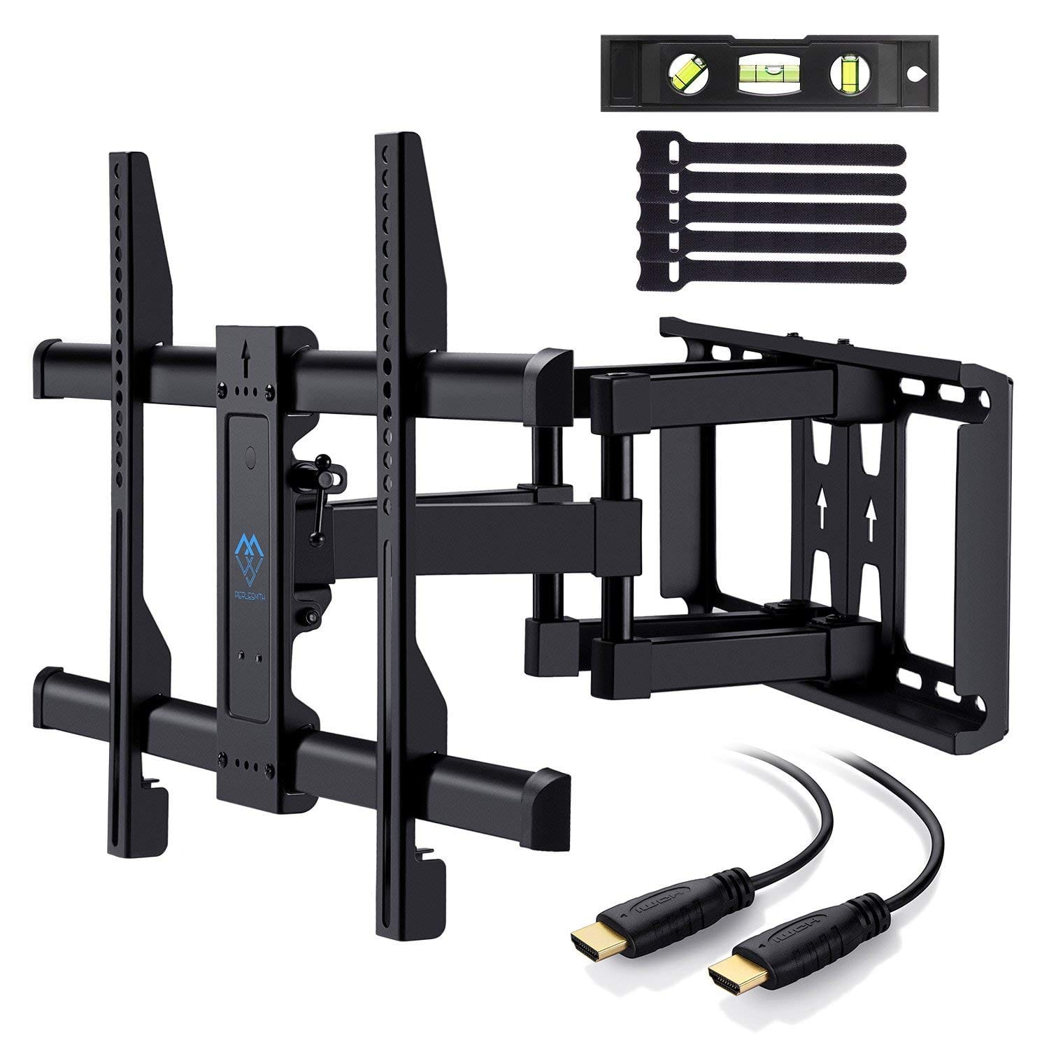 "PERLESMITH TV Wall Mount VESA Bracket for Most 37""-70"" TVs Up to 132lbs (5-Year Warranty, HDMI Cable, Full-Motion Dual Articulating Arm) $37.49 after 25% off"