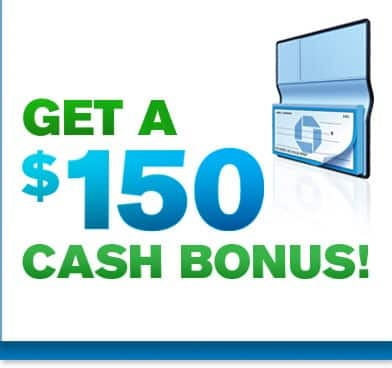 $150 Free from Chase for New Checking account w/direct deposit
