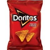 Doritos Tortilla Chips, Nacho Cheese, 1.75-Ounce Large Single Serve Bags (Pack of 64) - $16.86 - Amazon Warehousedeals - FREE Shipping for Prime Member