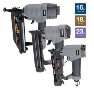 Numax 3 piece finish nailer kit $59.98 Home Depot