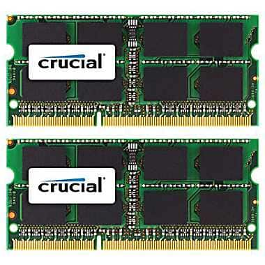 Crucial Technology CT2K8G3S160BM DDR3 (204-Pin SO-DIMM) Laptop Memory, 16GB $89.99 at Staples.com.  Free shipping.